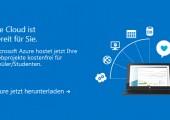 Microsoft Azure: Cloud-Services für Schüler und Studenten kostenlos